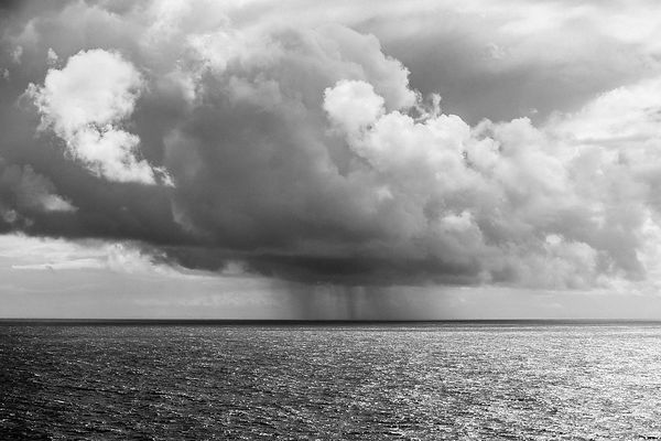 Rain over the Atlantic.