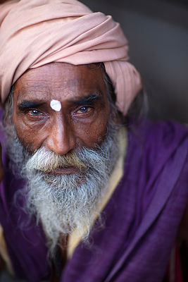 'Wisest Man in India' 2015. Photographer: Neil Emmerson: £975 inc. UK VAT.