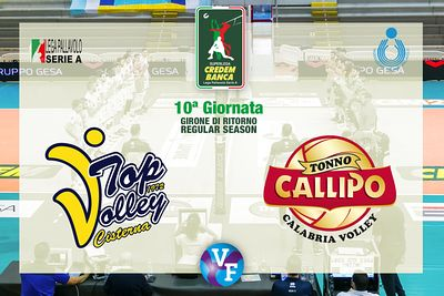 Top Volley CISTERNA - Tonno Callipo Calabria VIBO VALENTIA, 10ª giornata, girone di ritorno regular season, Superlega Credem ...