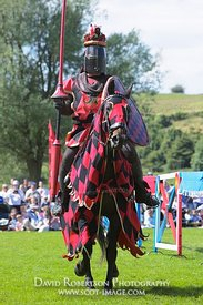 Image - Knight at a historical re-enactment of a jousting tournament