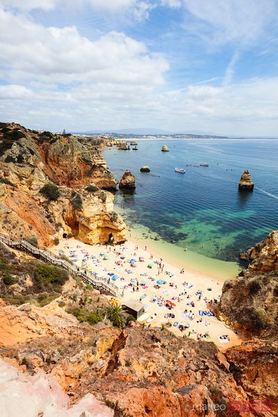 Praia do Camilo in summer, Lagos, Algarve, Portugal