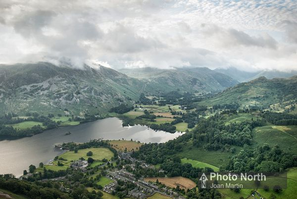 GLENRIDDING 02A - Aerial view of Glenridding and Patterdale