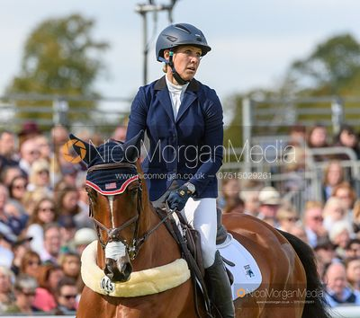 Elisabeth Halliday-Sharp and DENIRO Z - Show jumping and prizes - Land Rover Burghley Horse Trials 2019