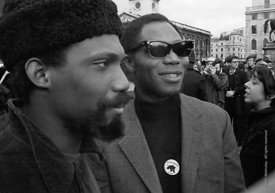 #70390,  Visiting American Black Power members, anti-Vietnam war demonstration march from Trafalgar Sq to Grosvenor Sq Sunday...