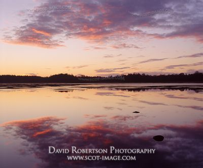 Image - Lake of Menteith, Scotland, Sunset refklections