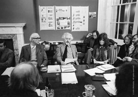 #77187  Ove Arup & Peter Barefoot, Council meeting, Architectural Association School of Architecture, London  1975.