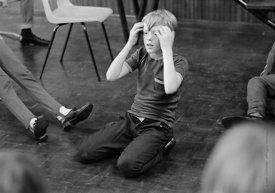 #83657,  Drama class, Whitworth Comprehensive School, Whitworth, Lancashire.  1970.  Shot for the book, 'Family and School, P...