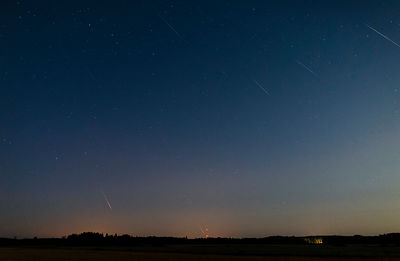 18 perseid meteors above the countryside of Southern Finland on Aug 14 2019 02.02 - 03.06. Composite image.