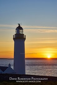 Image - Cantick Head lighthouse on South Walls, Orkney, Scotland.  On the southern approaches to Scapa Flow at sunrise