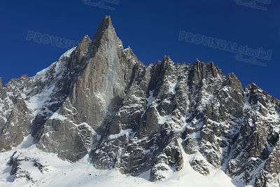 Westface of the Petit Dru