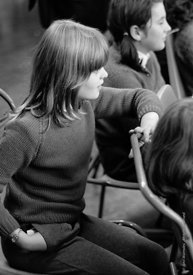 #83673,  Drama class, Whitworth Comprehensive School, Whitworth, Lancashire.  1970.  Shot for the book, 'Family and School, P...