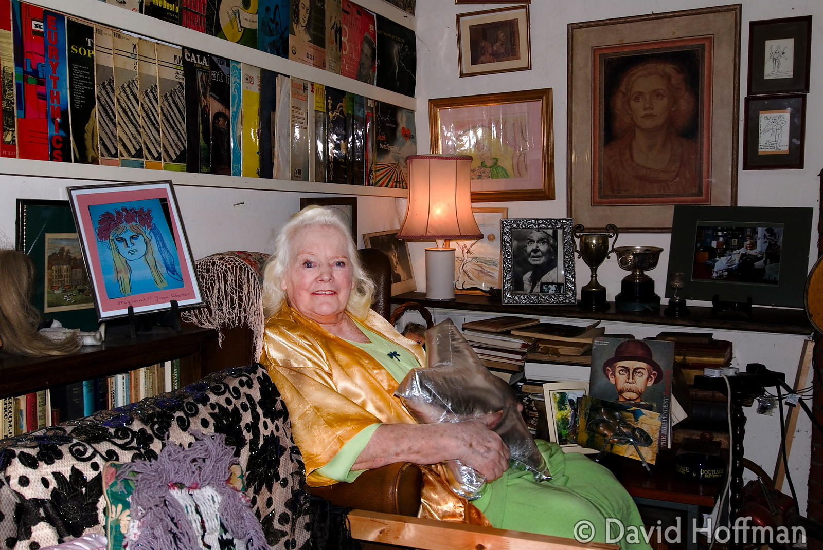Joan Rhodes (13 April 1921 - 30 May 2010) at her home in London 5 April 2013
