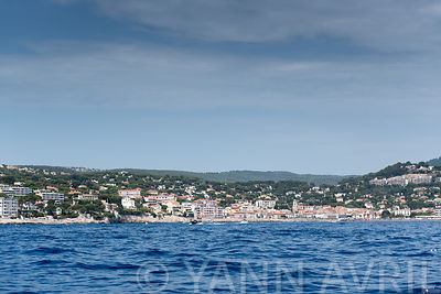 City of Cassis seen from the sea, France, summer