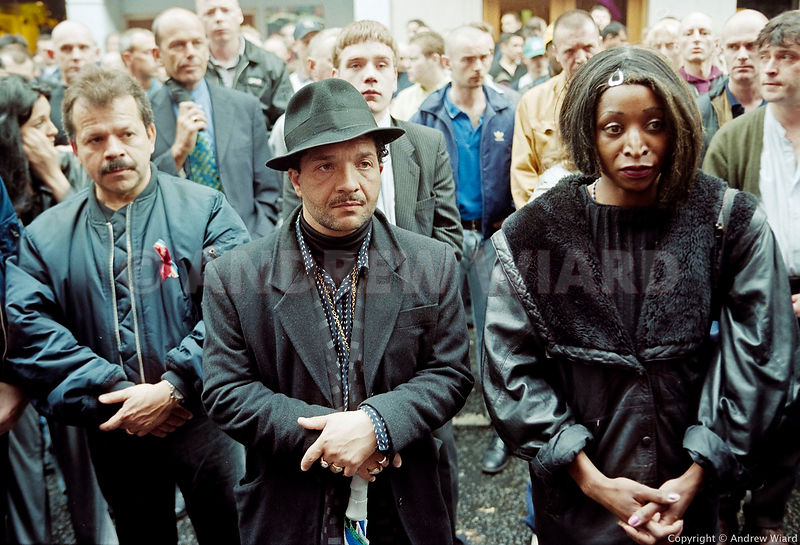 England, UK .7.5.1999. London . London Vigil of Remembrance and Defiance one week after the nail bombing of the Soho pub Admi...