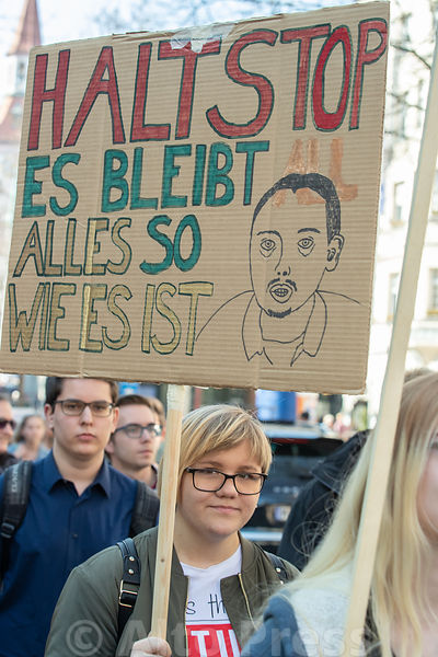 Protest against EU copyright reform in Munich