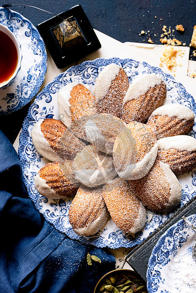 Fall Spiced Madeleines with Maple Glaze.