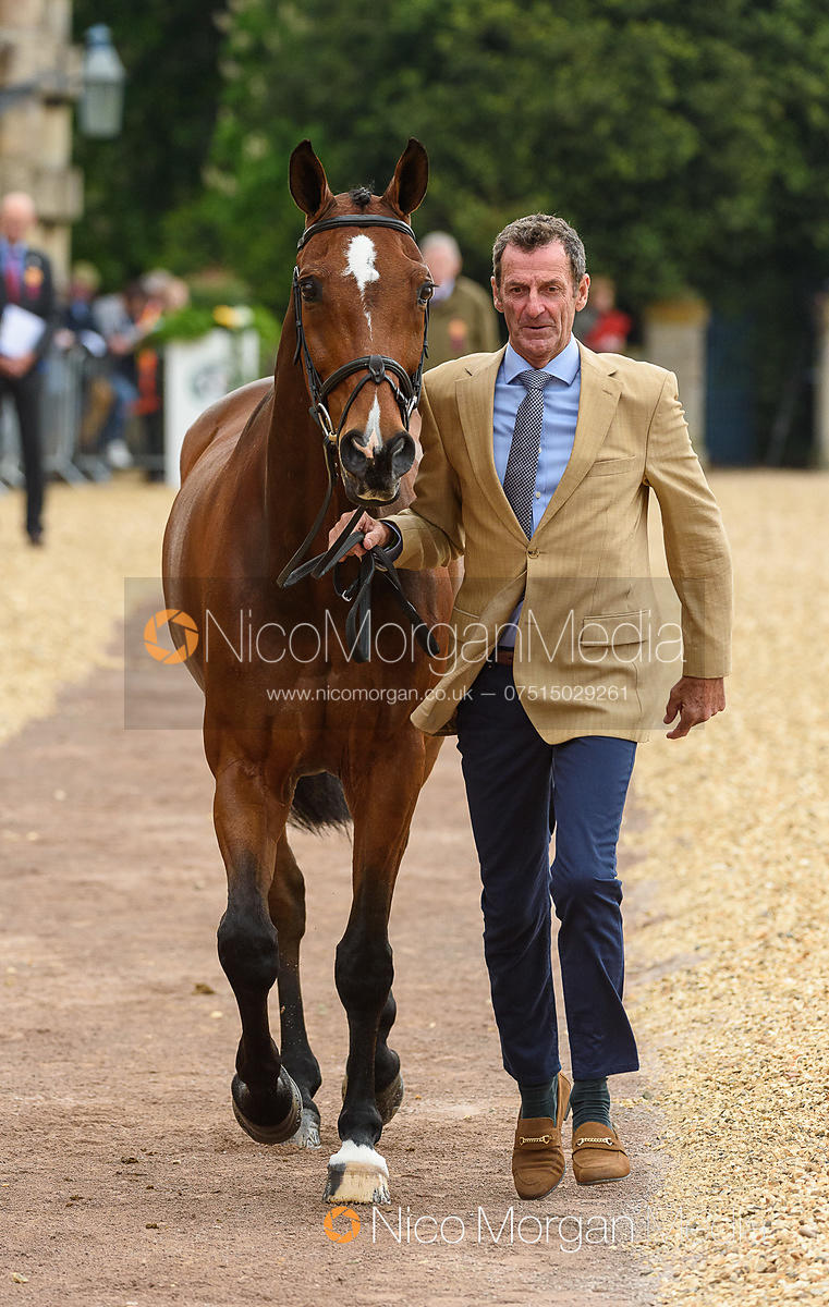Mark Todd and NZB CAMPINO at the trot up, Mitsubishi Motors Badminton Horse Trials 2019