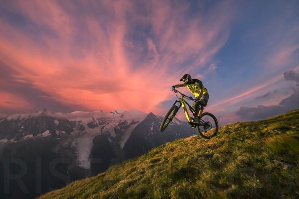Wheeling at sunset with Gael Wirz