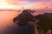 Awesome sunset over El Nido, Palawan, Philippines
