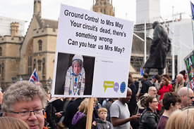 #124577,  Anti-Brexit march to Parliament Square, London, 23rd March 2019.  A million people of all ages marched demanding a ...
