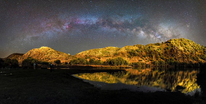 A Panoramic Milky Way Above Azenhas do Guadiana