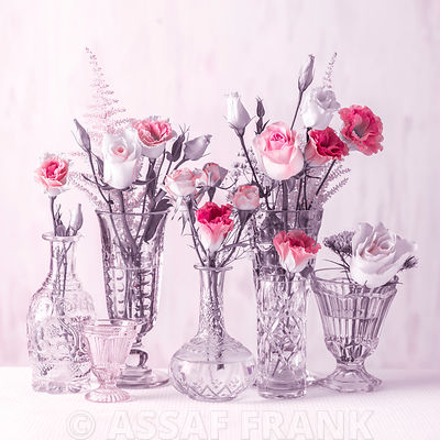 Flowers in glasses