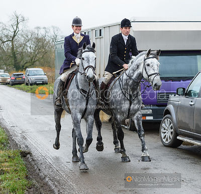 Beanie Sturgis, Rowan Cope on Pasture Lane - The Belvoir Hunt at Hose 27/11