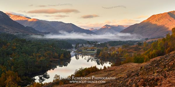 Image - Loch Affric on an autumn morning, Glen Affric, Inverness, Highland, Scotland.  Panorama.