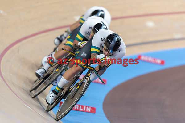 Men 's Team Pursuit finals - Australia - HOWARD Leigh, PLAPP Lucas, PORTER Alexander, WELSFORD Sam
