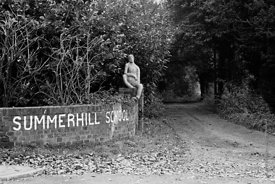 #72713   Summerhill School main entrance, Leiston, Suffolk, UK. 1968.  From the book, 'Neill & Summerhill: a man and his work...