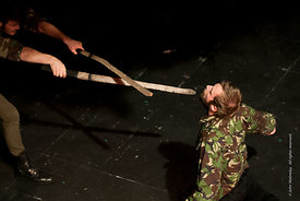#72280 student Macbeth,  Dress Rehearsal for Shakespeare's, 'Macbeth', Rose Bruford College, Sidcup, Kent.
