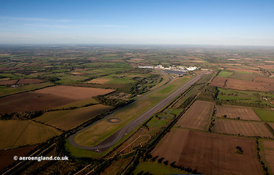 motor industry test track at  former RAF Gaydon at sunset aerial photo