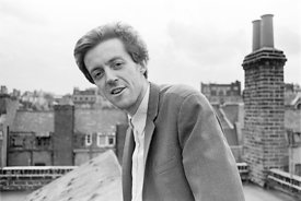 #74835,  Cornelius Cardew (1936-1981), avant-garde musician and composer, on the rooftops, Fitzrovia, London.  3rd July 1970.