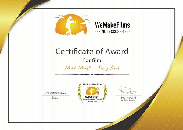 "Mad Mask remporte 2 prix au festival ""We Make Films not Excuses"""