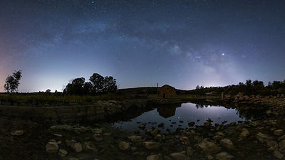 Milky Way in Guadiana River