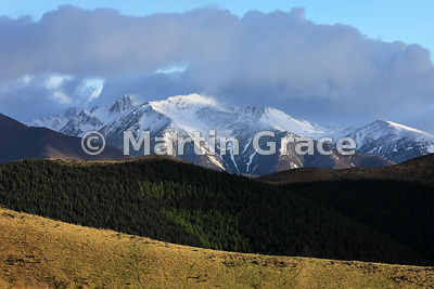Ben Ohau Range from the SE shortly after sunrise, Twizel, Canterbury, South Island, New Zealand