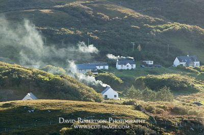 Image - Smoking chimneys at Portuairk, Ardnamurchan, Scotland