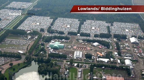 Luchtvideo - Lowlands Festival Biddinghuizen
