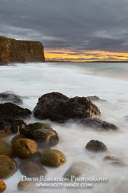 Image - Peedie Beech, Dunnet, Caithness, Scotland.  At sunset.