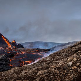 ERUPTION I SYDVESTE ISLAND