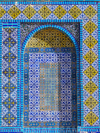 Islamic art tiles, Al-Aqsa Mosque, Jerusalem, Israel