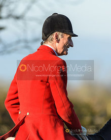 Joss Hanbury at the meet. The Quorn Hunt at Fox Covert Farm 10/1
