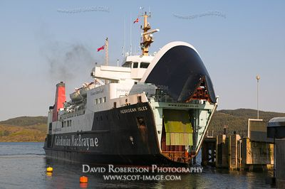 Image - The Caledonian MacBrayne Ferry, the Hebridean Isles, at Kennacraig, Scotland
