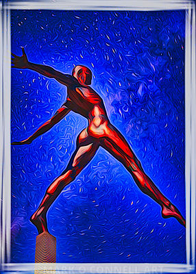 art,painting,airbrush,abstract,statue,bronze,stars,stepping out