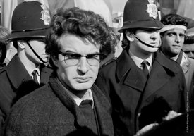 #70372  Alain Krivine, leader of the French Jeunesse Communiste Revolutionnaire, waiting to speak in Trafalgar Square.  Anti-...