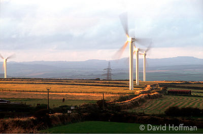 Wind Farm Delabole Cornwall