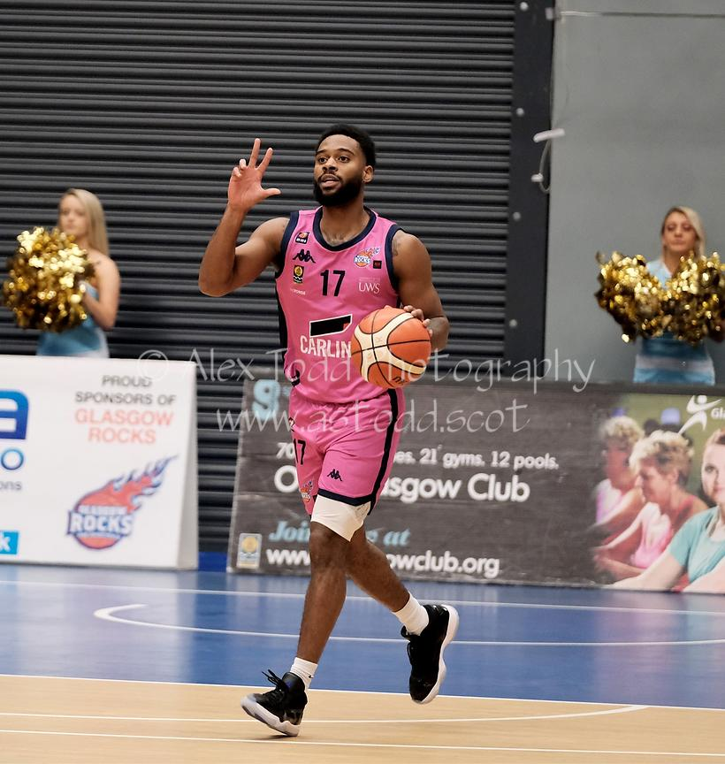 Glasgow Rocks v Cheshire Phoenix, British Basketball League BBL Cup, Friday 25th October 2019