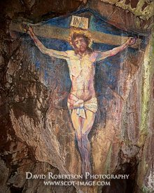 Image - Painting of the Crucifixion of Jesus Christ by Archibald MacKinnon in 1887.  As seen in 2019.  The painting is found ...
