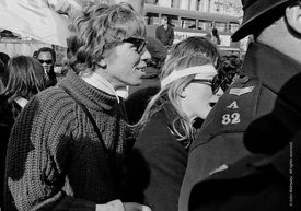 #70427  A young Richard Branson at the anti-Vietnam war demonstration march from Trafalgar Sq to Grosvenor Sq Sunday 17th Mar...