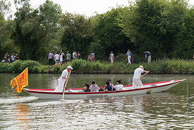 #124944,  Ferry service across the river.  The 'Summer Eights', a week of rowing races for the Oxford University Colleges on ...
